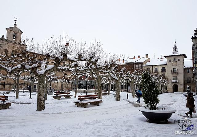 Por fin, nieva este año en Briviesca 1