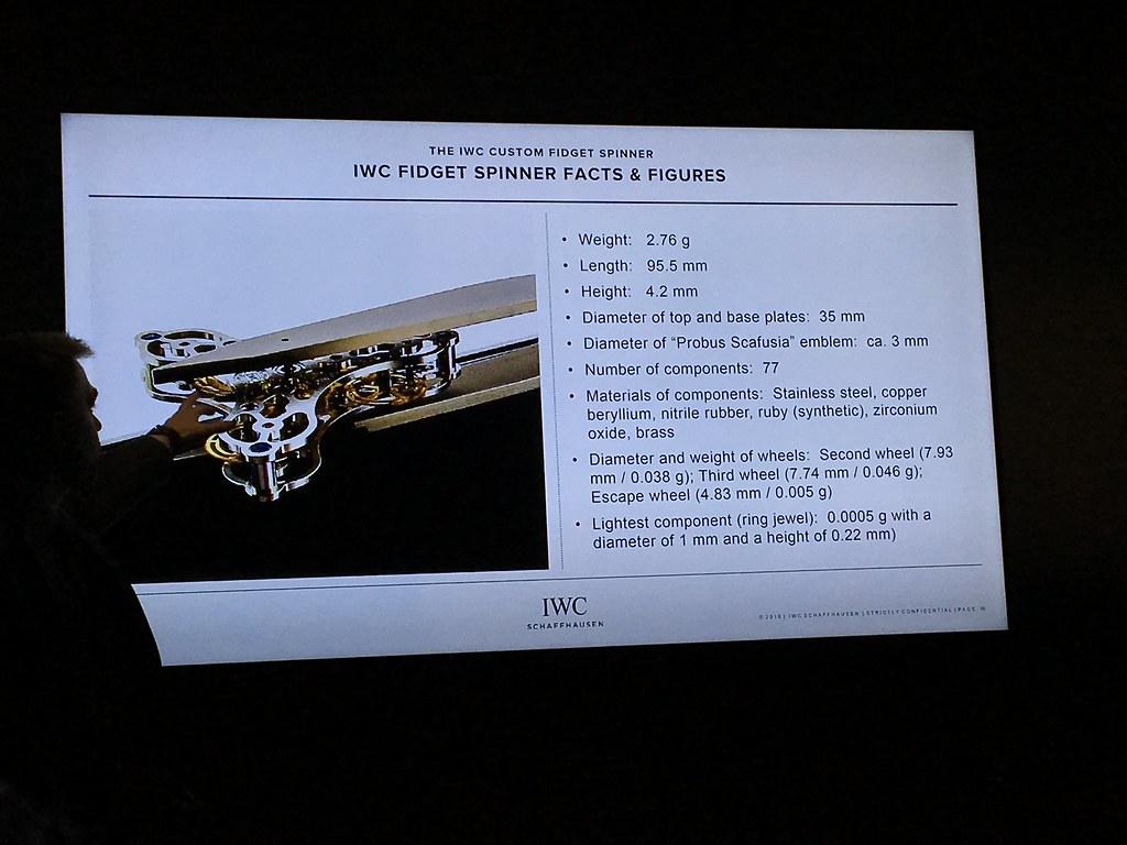 IWC Fidget Spinner, IWC Fidget