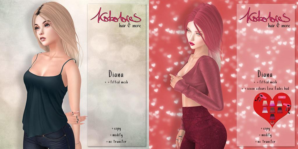 [KoKoLoReS] Hair Diana & XOXO Valentines Spcial!