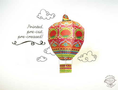 Hot Air Balloon Paper Craft Model by Sky Goodies