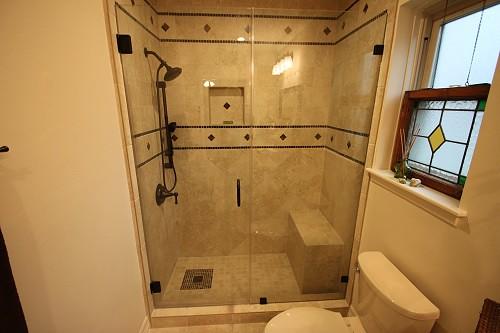 White Master Bathroom Remodeling