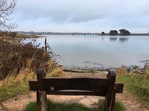 Top of Hayling Island - lagoon and road bridge