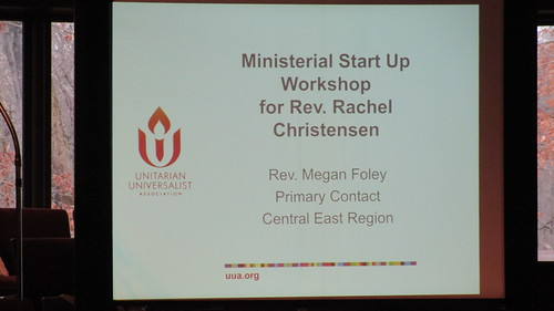 Ministerial Start Up Workshop at Paint Branch UU Church, January 21, 2018