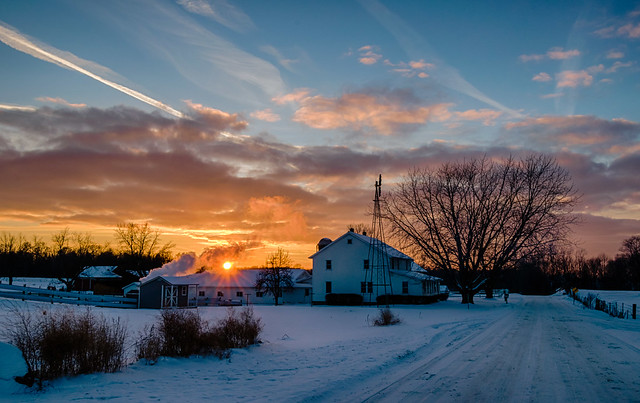 Snowy Sunset #3