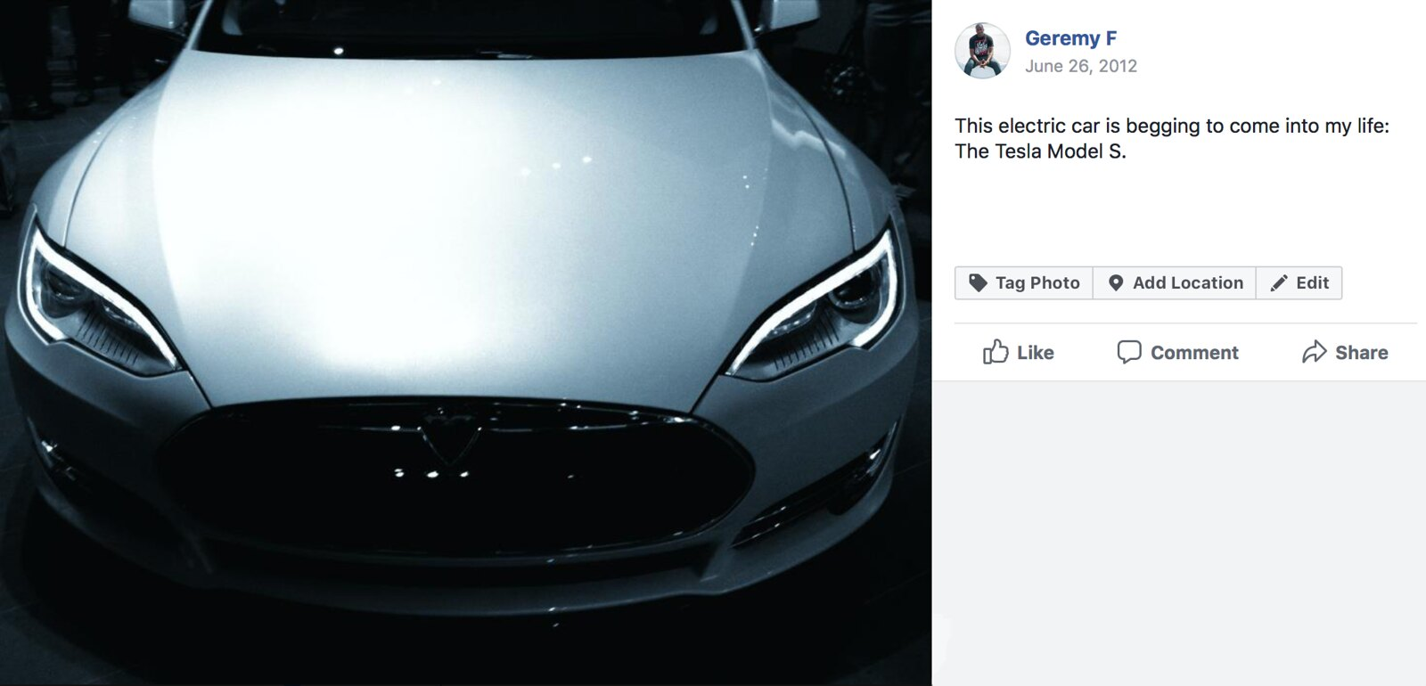 Tesla Model S from '13