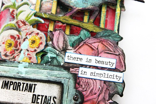 Meihsia Liu Simply Paper Crafts Mixed Media My Garden Bird Cage Bonanical Flowers Simon Says Stamp Tim Holtz 3