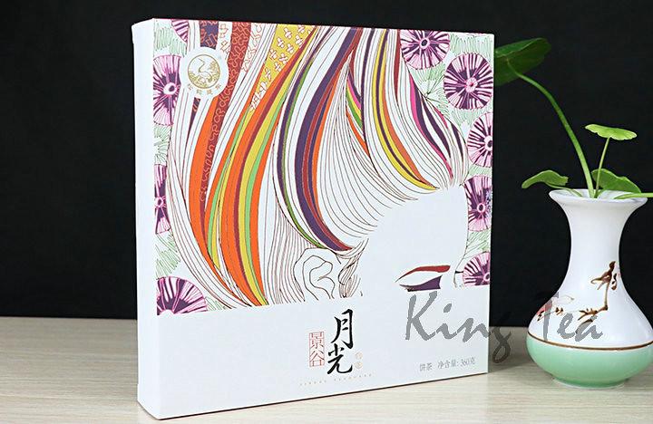 2017 XiaGuan YueGuang Moon Light Cake 360g White Puerh Raw Tea Sheng Cha