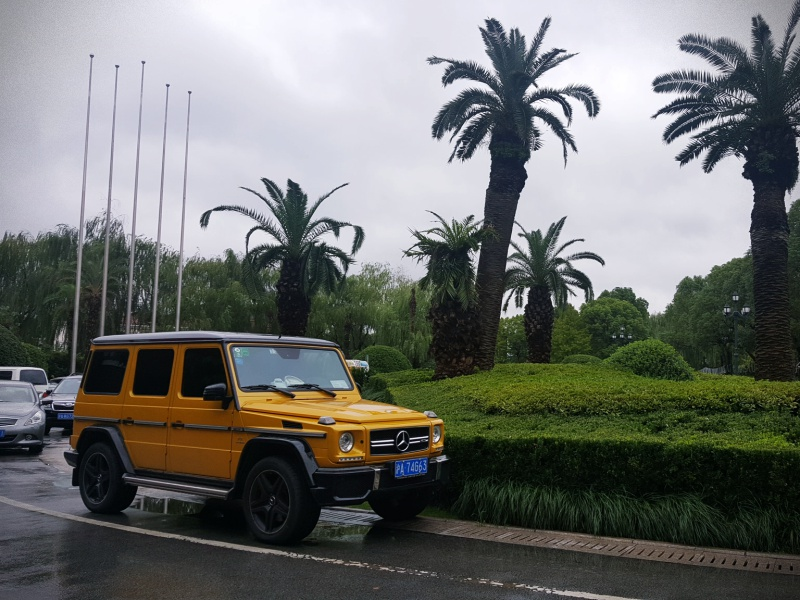 Yellow G Wagon