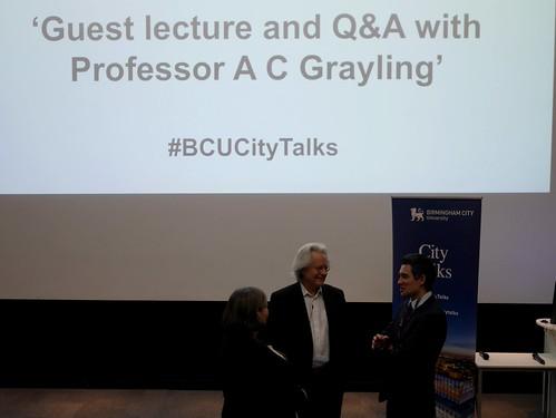 City Talks - Professor AC Grayling