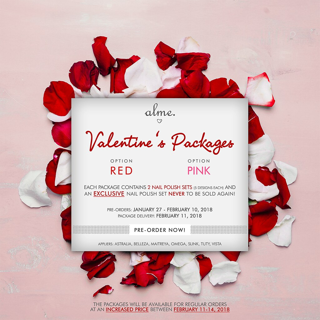 alme. Valentine's Packages