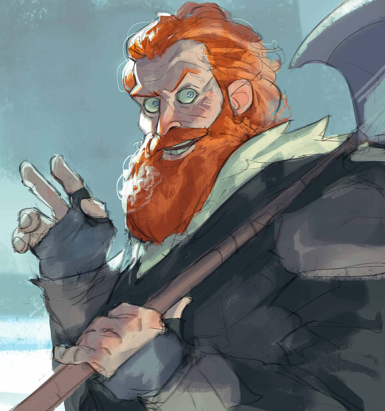 Artist Creates Unique Character Arts From Game Of Thrones – Tormund Giantsbane Character Art By Ramón Nuñez