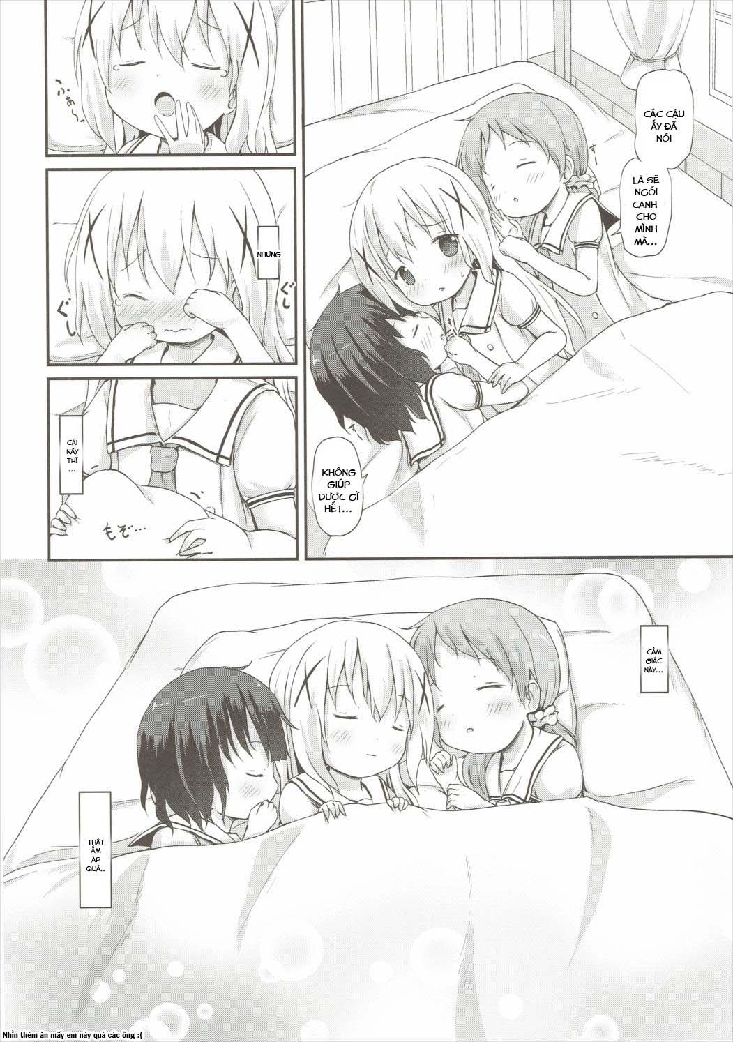HentaiVN.net - Ảnh 13 - Moshikashite, Chino-chan Onesho Shichatta no?? 2 (Gochuumon wa Usagi desu ka?) - Oneshot