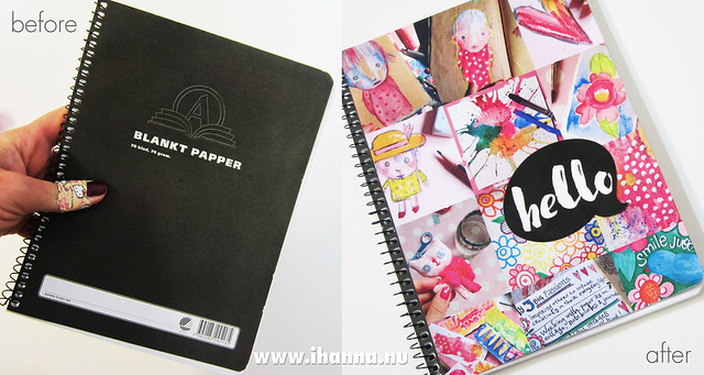 Custom Paper Pad fun - Before and After