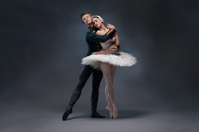 Marianela Nuñez and Vadim Muntagirov photographed for Swan Lake © ROH 2017. Photographed by Bill Cooper