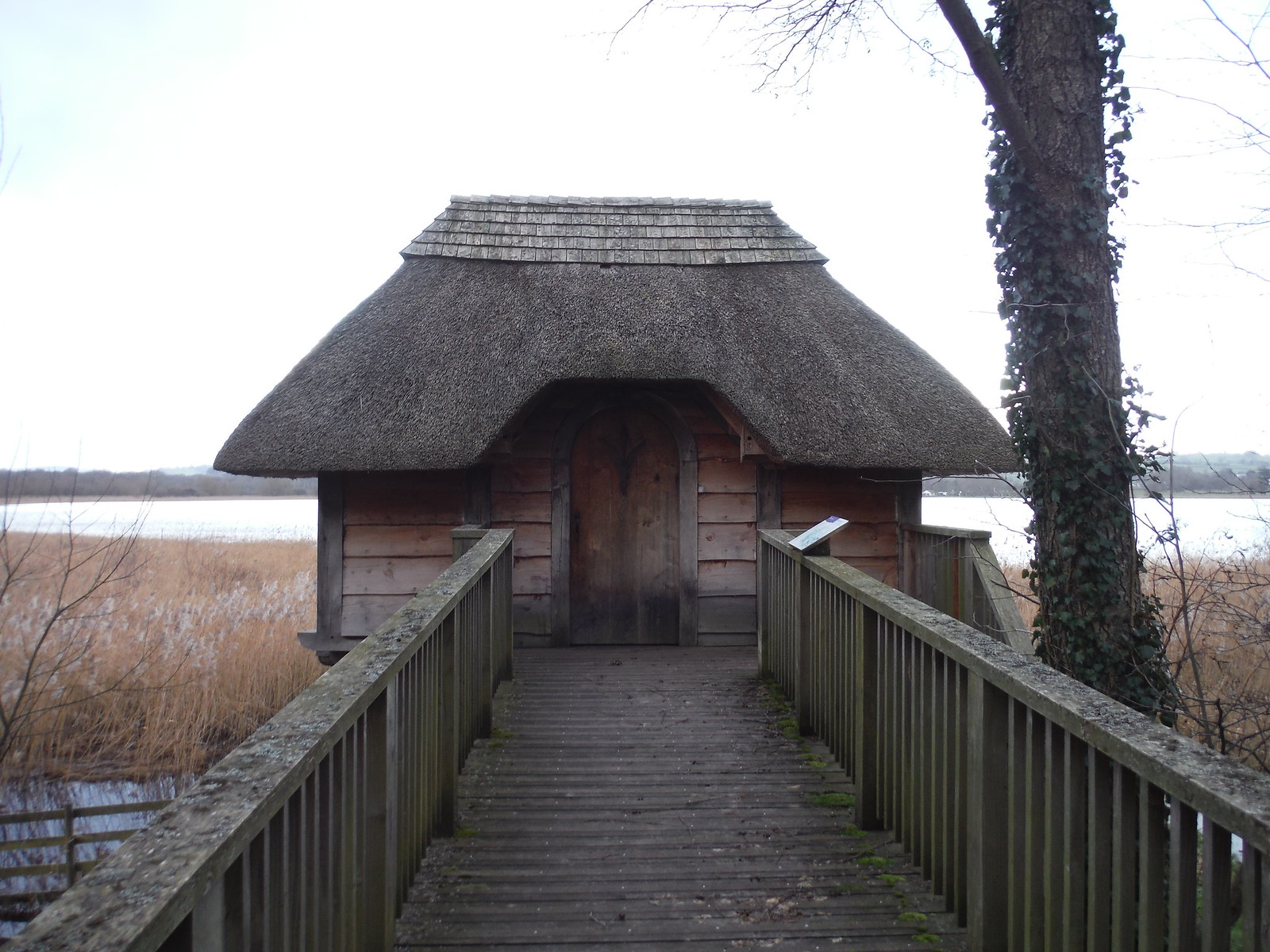 Bird Hide on Lake Llangorse SWC Walk 308 - Bwlch Circular (via Mynydd Troed and Llangorse Lake)