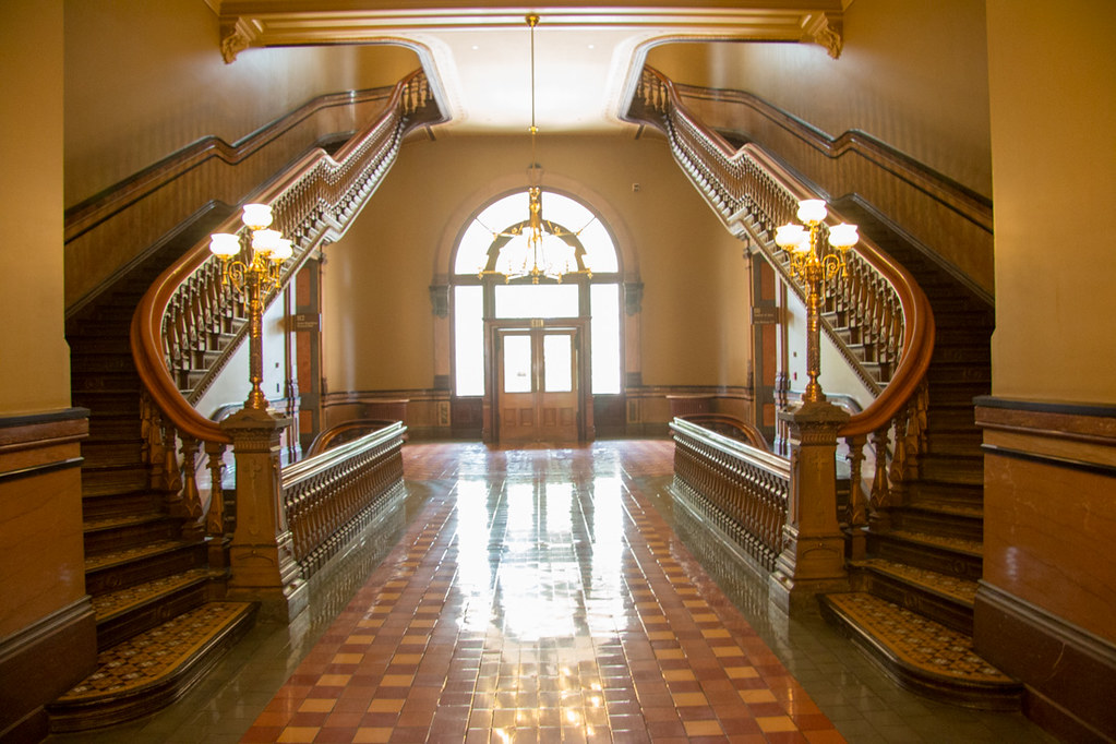 Staircase in the Iowa State Capitol building
