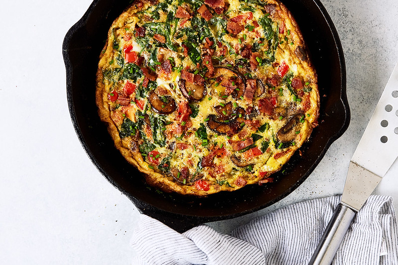 How-to Make the Perfect Leftovers Frittata. Great for Brunch or Meal Prep.