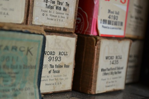 Piano Player Rolls - you'll see these at the King's Cinema Exhibit at the Powerhouse Museum. From Discovering the Hidden History of Sydney