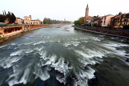 Ponte Pietra, Verona, Italy.