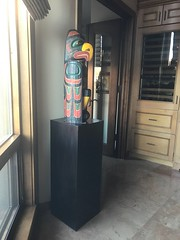 Ebonized Walnut Wood Veneer Pedestal