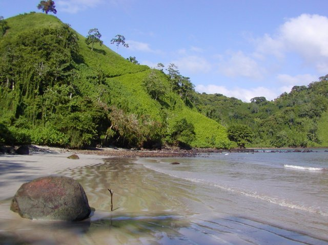 Chatham Beach on Cocos Island, Costa Rica.