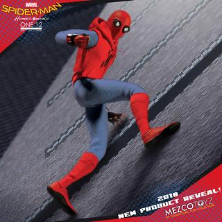 MEZCO ONE:12 COLLECTIVE 系列《蜘蛛人:返校日》蜘蛛人自製服裝ver. Homemade Suit Spider-Man 1/12 比例人偶作品 情報公開!!