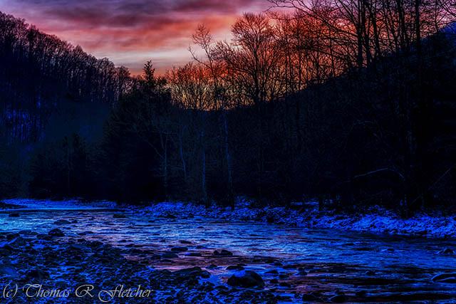 Winter Dawn Cranberry River