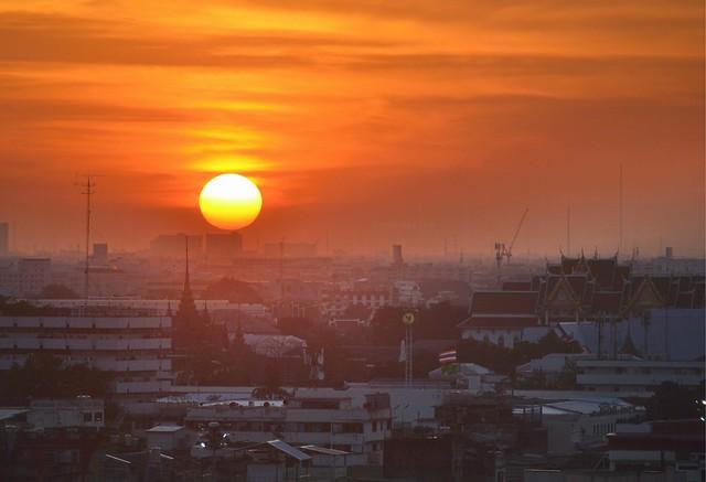 bangkok itinerary bangkok sunset