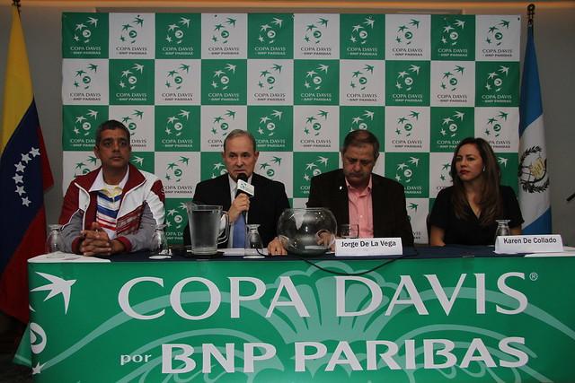 Sorteo Copa Davis, Guatemala ante Venezuela