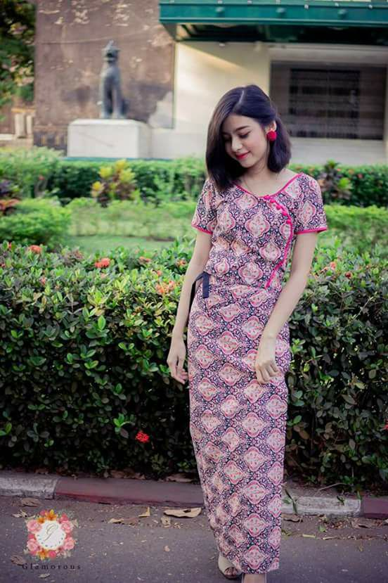 Myanmar Burmese Dress 2018 2019 Collection Fashionre