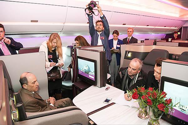 Qatar Airways A350-1000 Akbar Al Baker QSuite (Airbus)