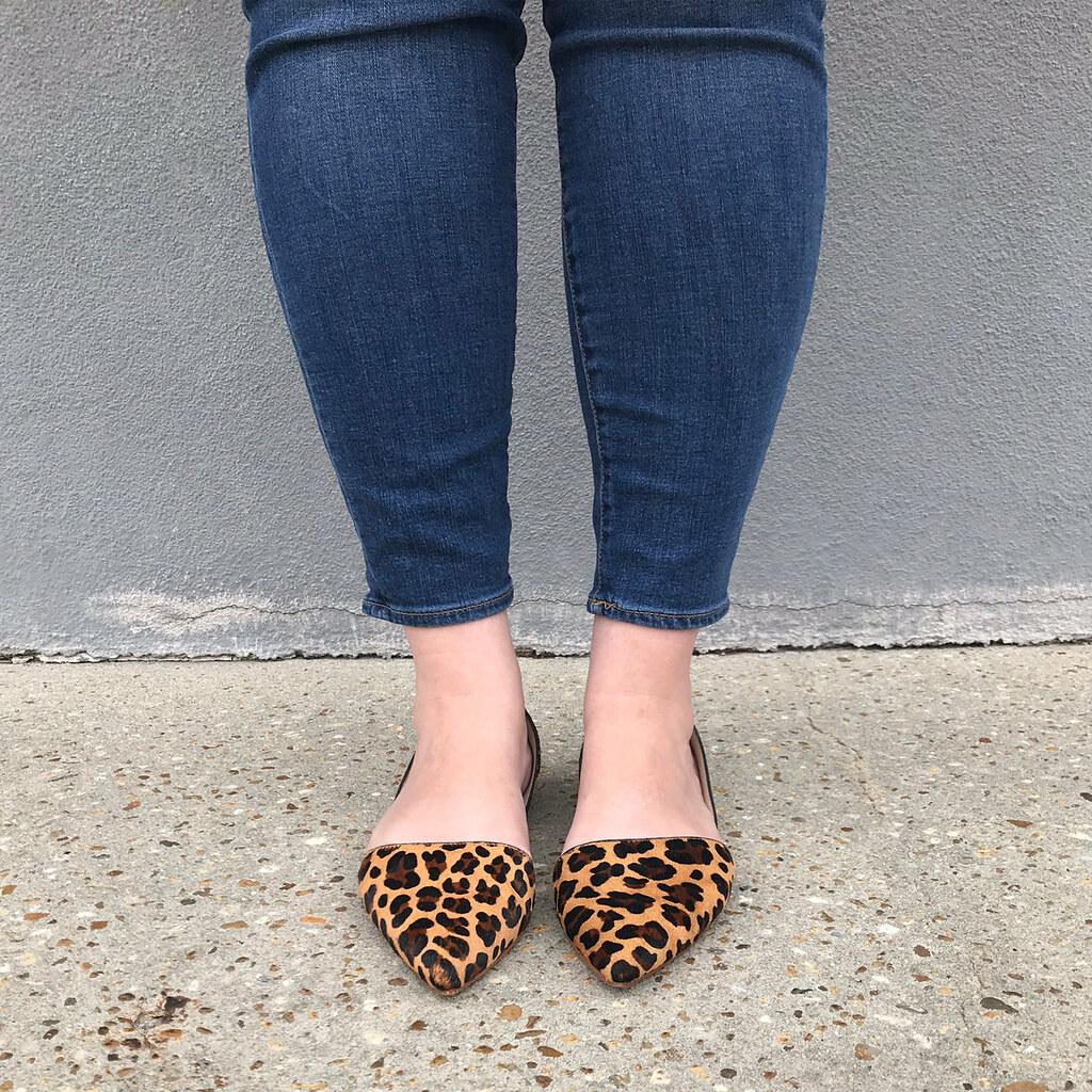 pink kimono cardigan, stripe tank, skinny jeans, leopard flats instagram