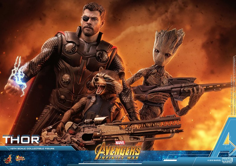AVENGERS INFINITY WAR THOR GROOT ROCKET RACCOON 02