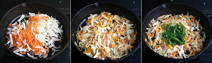 How to make schezwan dosa recipe - Step2