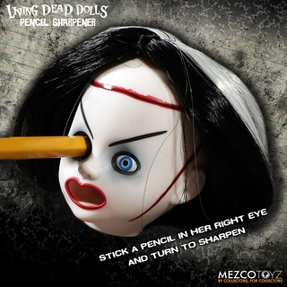 最互相傷害的削鉛筆~?! MEZCO 活死人娃娃削鉛筆機【情人節新娘款】The Living Dead Dolls Pencil Sharpener Bride of Valentine
