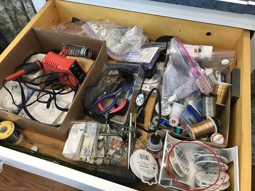 solder drawer before