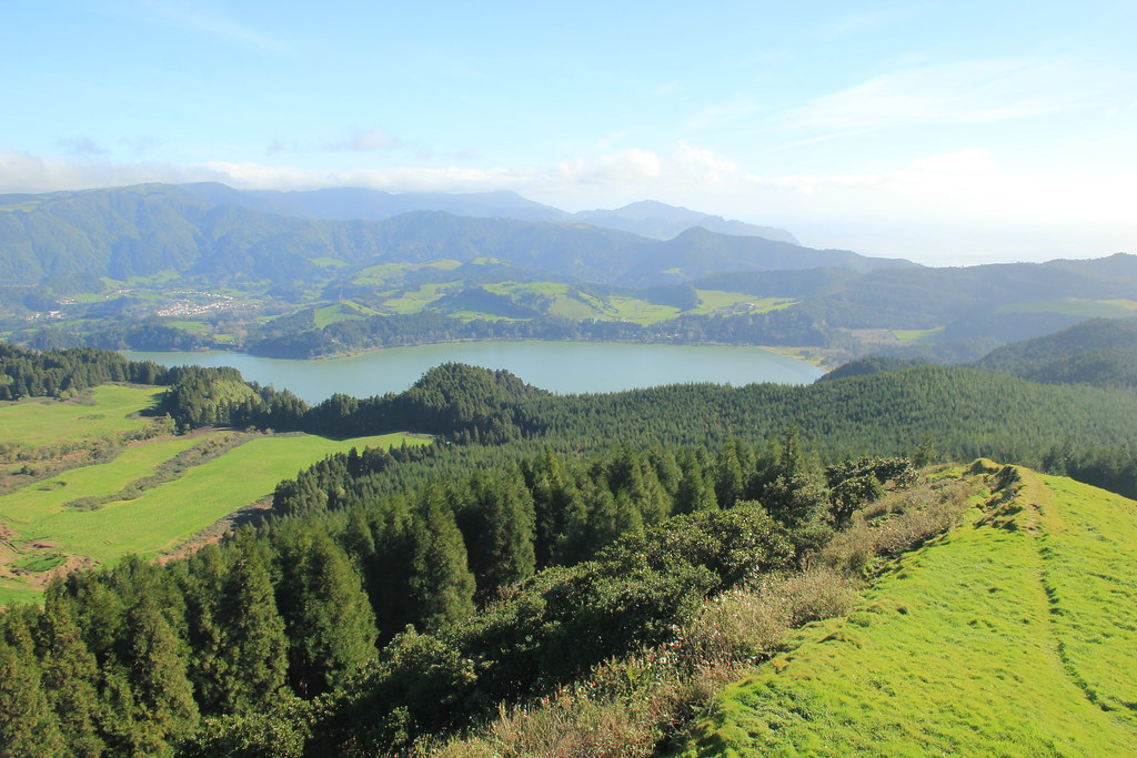 View of Lake Furnas from Castelo Branco
