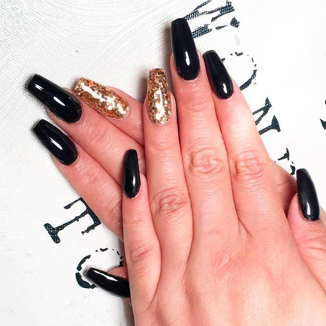 24 trendy black acrylic nails art designs nails c prinsesfo Choice Image