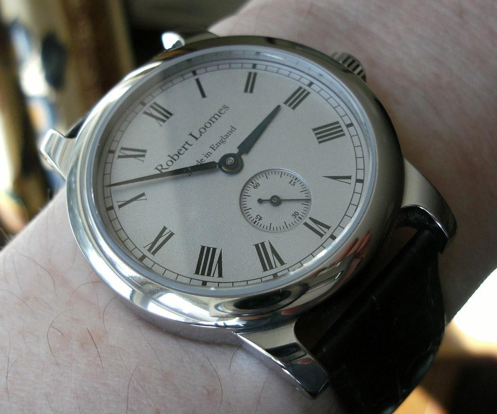 Robert Loomes Robin on wrist