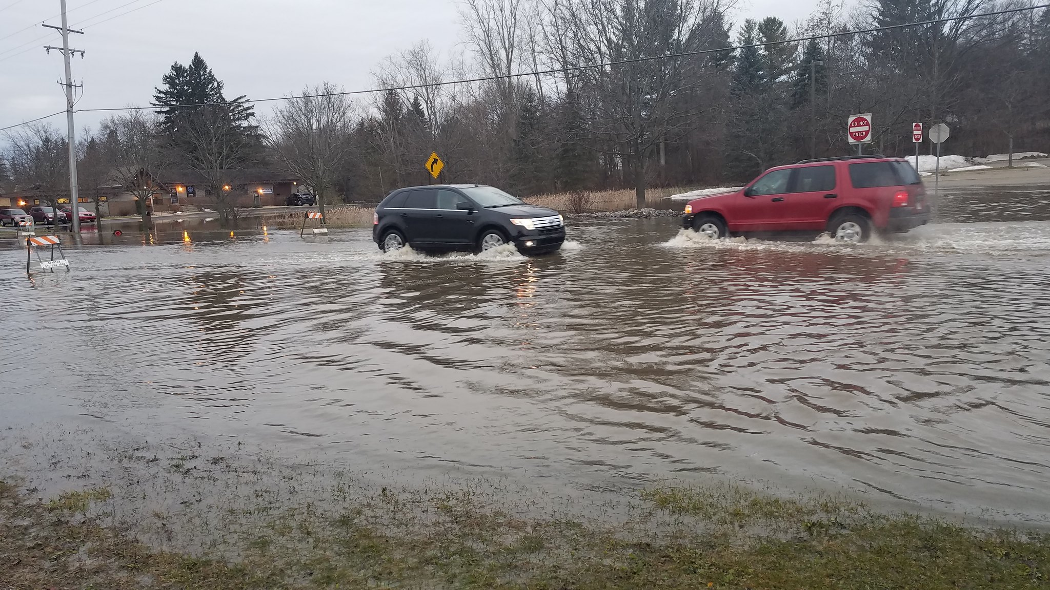 Flooding in Meridian Township Causes Road Closures and Home Evacuations