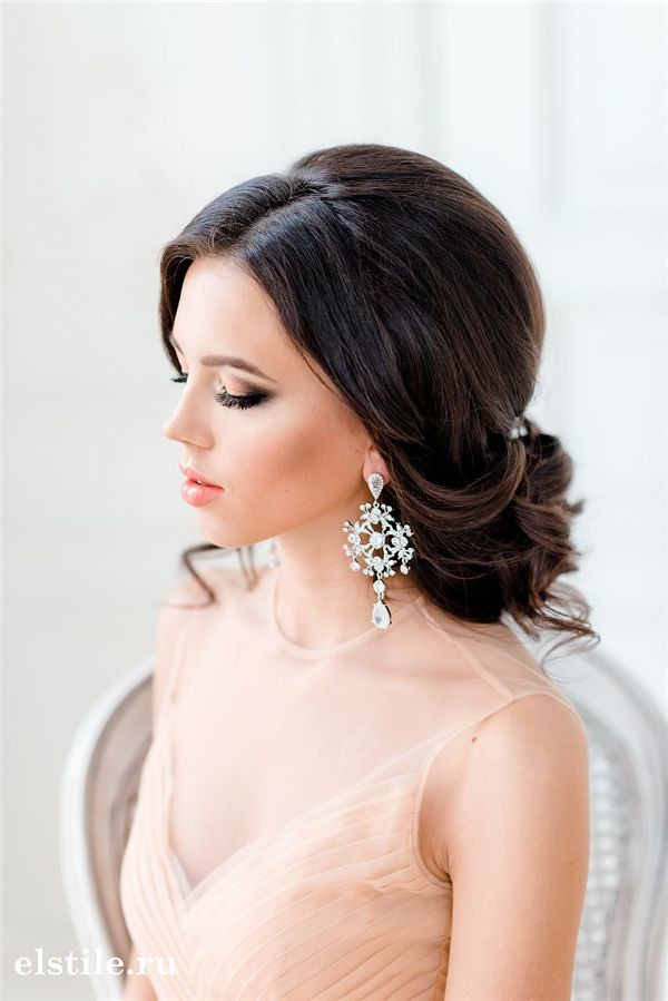 Wedding Hairstyles : losse low wedding updos and peach tulle dress - #WeddingHairstyle