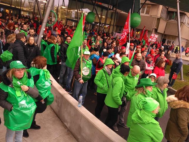 Liège. Manifestation du CHR