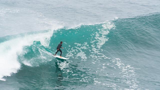Surfer bei der Punta de Lobos