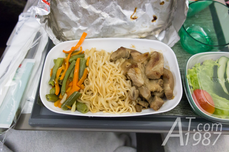 EVA Air Stir Fried Pork with Egg Noodle