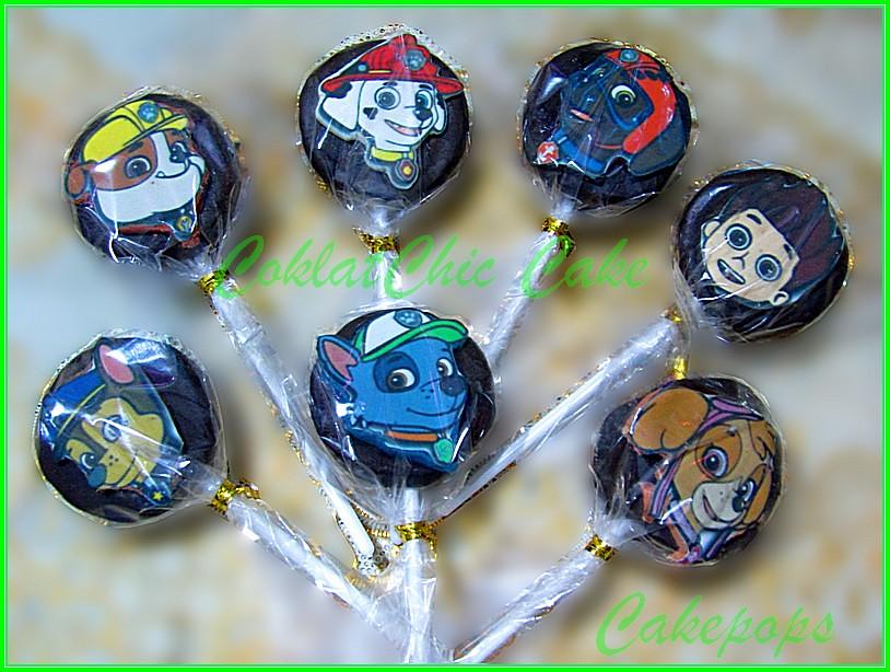 Cakepops edible image Paw Patrol