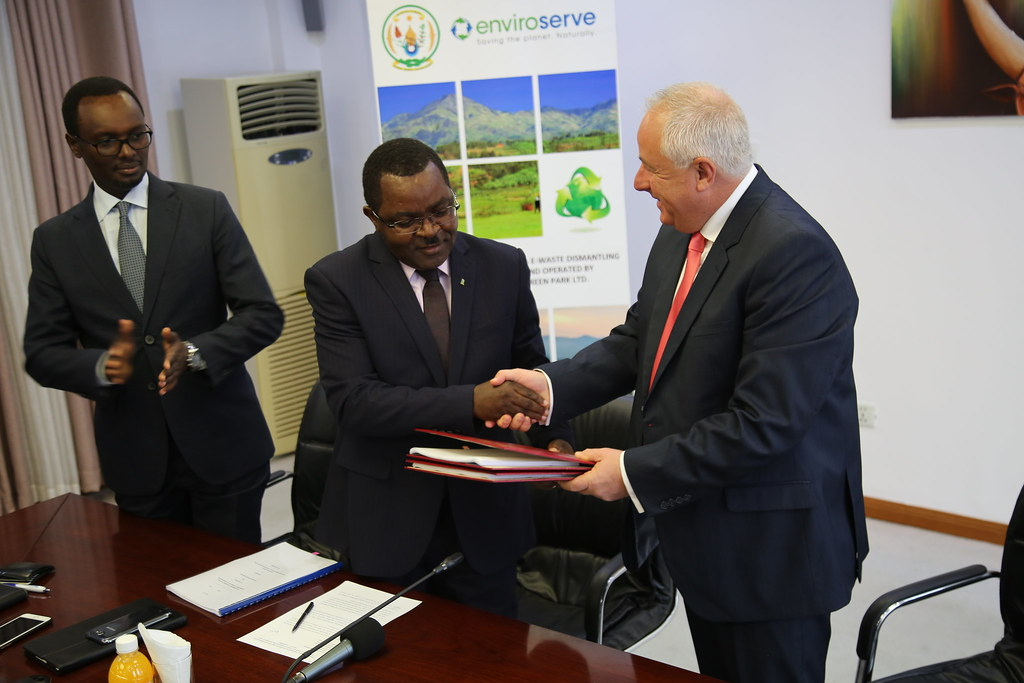 The Signing of the Lease Agreement Between Ministry of Trade and Enviroserve Rwanda Green Park