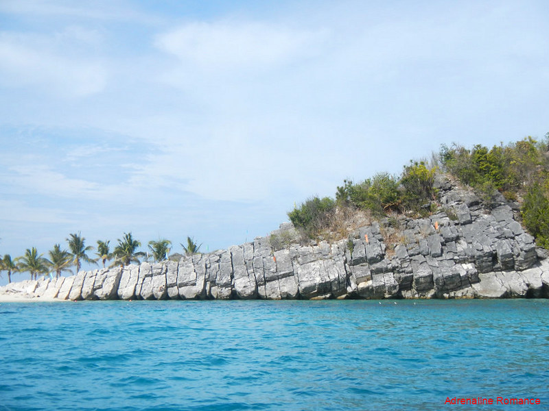 Rock slabs in Antonia Island Resort