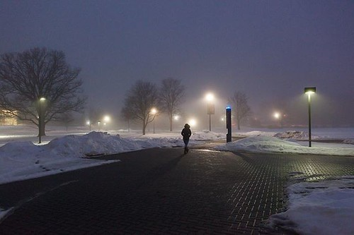 Even in the fog there's something beautiful about campus. #TBT #GoValpo