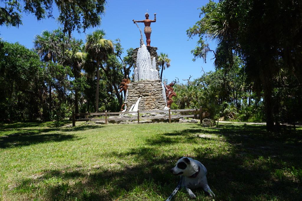 "The quirky ""Chief Tomokie"" Statue at Tomoka State Park in Ormond Beach, Fla., July 2017."
