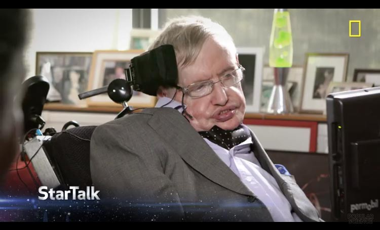 Stephen Hawking di program acara Star Talk.